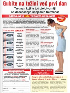 Garciline kapsule za mršavljenje - članak u novinama