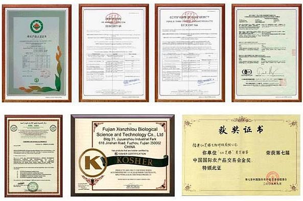 reishi slim certifikati za uporabu i prodaju
