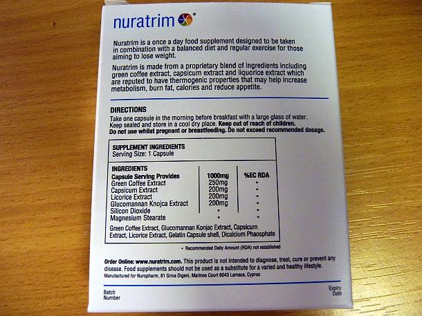 Sastav Nuratrim kapsula za mršavljenje