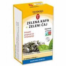 Teodora tablete za mršavljenje sa zelenom kavom i zelenim čajem